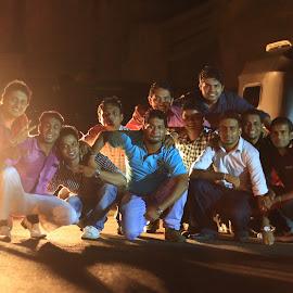 Lights in a Group by Dilshan Jayasuriya - People Group/Corporate ( headlights, gathering, spirit, celebration, team, group )
