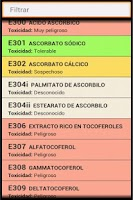 Screenshot of Food Additives (ES)