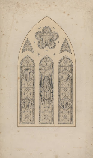 This pencil drawing is attributed to Philip Deegan, one of Harry Clarke's assistants. During the years between 1921 and 1931 the Studios were extremely busy, and used several highly skilled assistants to carry out the commissions in which they were involved. It is clear from the order books and correspondence that the commission for Lady Dillon in Skryne Church was handled by Harry Clarke. However, this formal presentation drawing was completed by Deegan, rather than by Clarke himself. Nevertheless, Christ's elongated figure with the long, tapering fingers and the jewel-like decoration of the medallions on the sides are particularly reminiscent of Clarke's distinctive style.