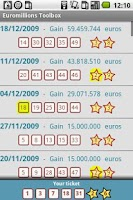 Screenshot of Euromillions Toolbox