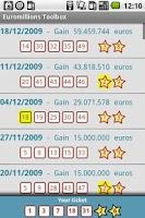Screenshot of Euromillions Toolbox