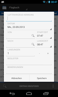 Flugbuch - screenshot