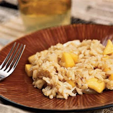 Crab and Coconut Risotto with Mango