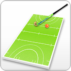 Field hockey coach's clipboard icon