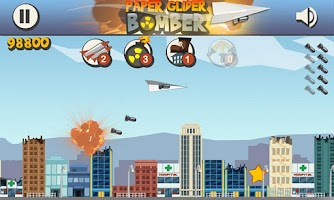 Screenshot of Paper Glider Bomber