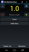 Screenshot of Diet Watchers Diary