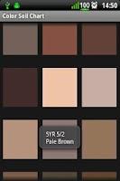 Screenshot of Soil Color Chart