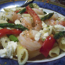 Asparagus and Shrimp Penne Pasta