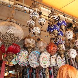 Roadside Turkish lamp market by Luci Henriques - City,  Street & Park  Markets & Shops