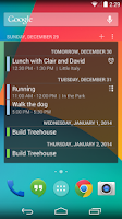 Screenshot of Calendar Widget
