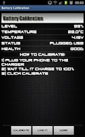 Screenshot of Battery Calibration