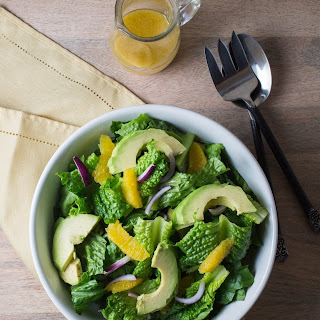 Green Salad with Orange, Avocado, and Red Onion