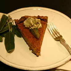 Butternut-sage Tart In A Walnut Sage Crust