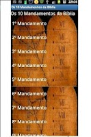 Screenshot of Os 10 Mandamentos da Bíblia