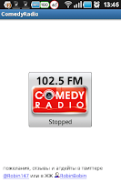 Screenshot of Comedy Radio 102.5 FM online