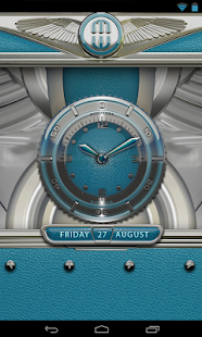 Clock Widget Lightblue Eleplan Screenshot