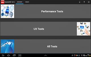 Screenshot of MobileXPRT