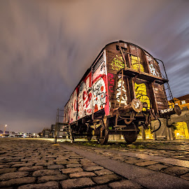 Wagon by Cosmin Stahie - Transportation Trains ( copenhagen, kobenhavn, railroad, wagon, islands, train, denmark, brygge )