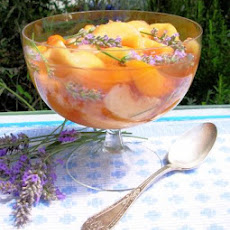 Fresh Peaches in Sauternes Soak With Angelica and Lavender
