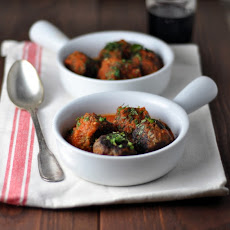 Meatballs with Mint & Parsley in Tomato Sauce