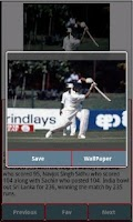 Screenshot of Sachin's Centuries