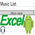 Music List To Excel icon