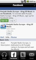 Screenshot of Punjabi Radio Europe