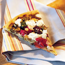 Roasted Vegetable-and-Goat Cheese Pizza