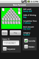 Screenshot of 14 Pyramid Solitaire Games