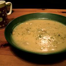 Swiss-Topped Cauliflower Soup
