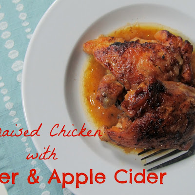 Beer and Cider Braised Chicken Thighs