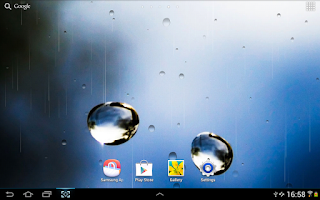 Screenshot of Rain On Glass Live Wallpaper