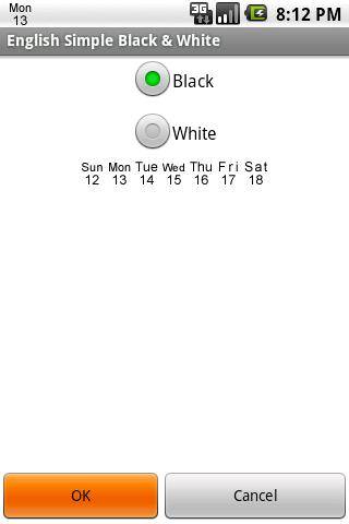 English Simple Black White