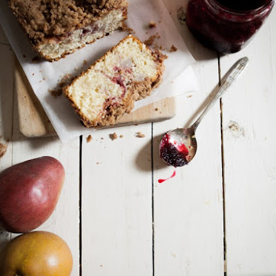 Cranberry Swirl Pear Coffee Cake