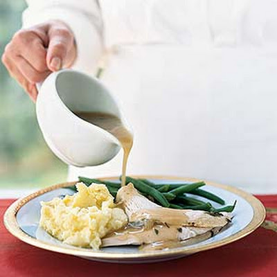 Parmesan-Sage Roast Turkey with Sage Gravy