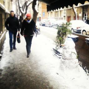 Gospodin Sneško by Aleksandar Z Dimitrijević - City,  Street & Park  Street Scenes