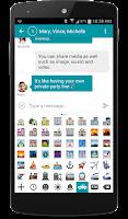 Screenshot of chomp SMS Emojis