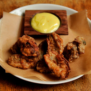 Fried Oysters with Saffron Aioli