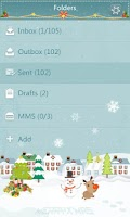 Screenshot of GO SMS Pro WhiteChristmas ThEX