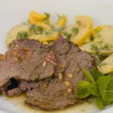 Tea-Smoked Beef Tenderloin With Pear Salad