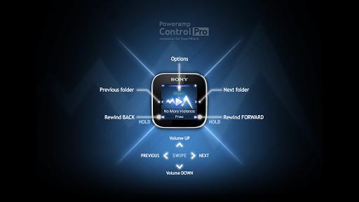 PowerampControl Pro SmartWatch - screenshot