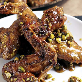 Honey Baked Pistachio Wings