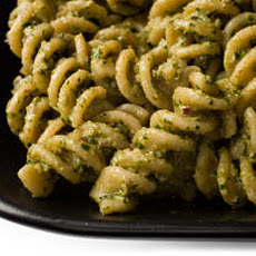 Fusilli with Parsley, Walnut, and Black Olive Pesto Recipe