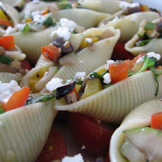 Conchiglioni Stuffed With Vegetables & Goat Milk Feta With B