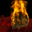 Burning Skull Gothic Wallpaper icon