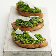 Crushed Broad Bean & Mint Bruschetta