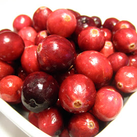 Cranberries by Michelle Bergeson - Food & Drink Fruits & Vegetables ( fruit, tart, red, whole, white, cranberries,  )