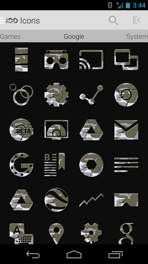 Tha Arctic Camo - Icon Pack Screenshot 1