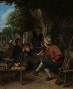 RIJKS: Adriaen van Ostade: Travellers at Rest 1671