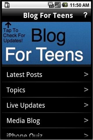 Blog For Teens